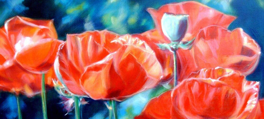 Realistish - Poppies 80x80