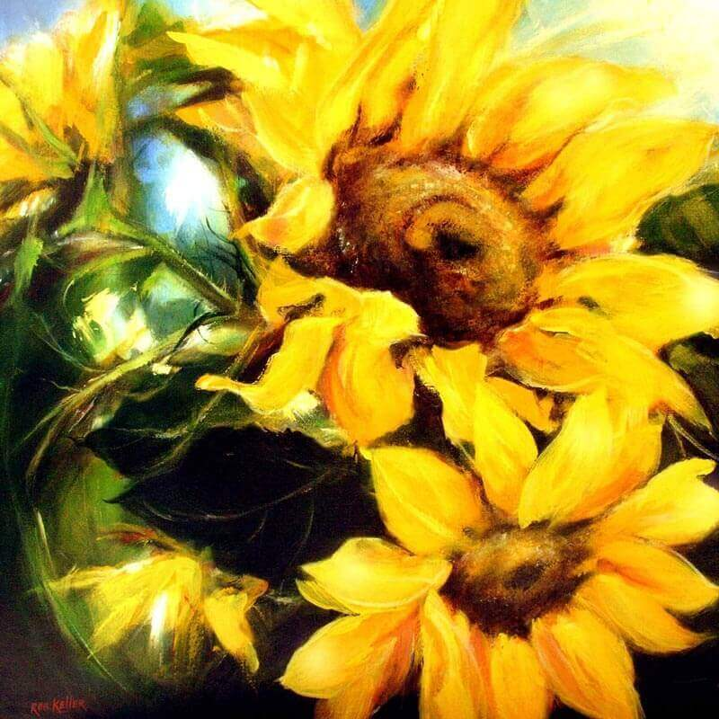 Sunflowers 70x70